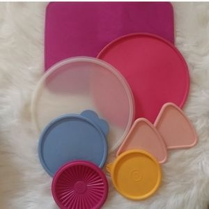 Tupperware Replacement Lids Vintage Lot of 8
